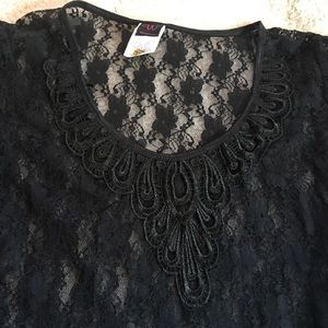 Wrapper Tops - Lace Over Tee